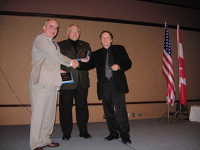 Paul Wilson receiving a National Home Inspection Award at the CAHPI National Conference